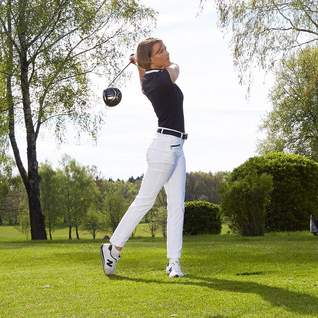 Damen 7/8-Hose aus Stretch-Material mit Sonnenschutz-Funktion