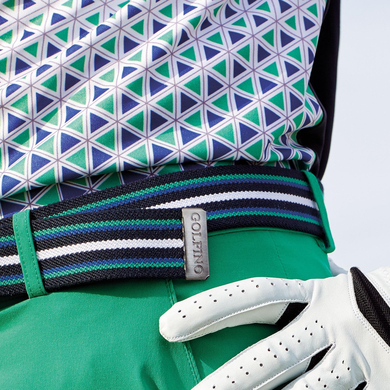 Herren Golf-Wendegürtel mit Streifendesign und Klemm-Schnalle