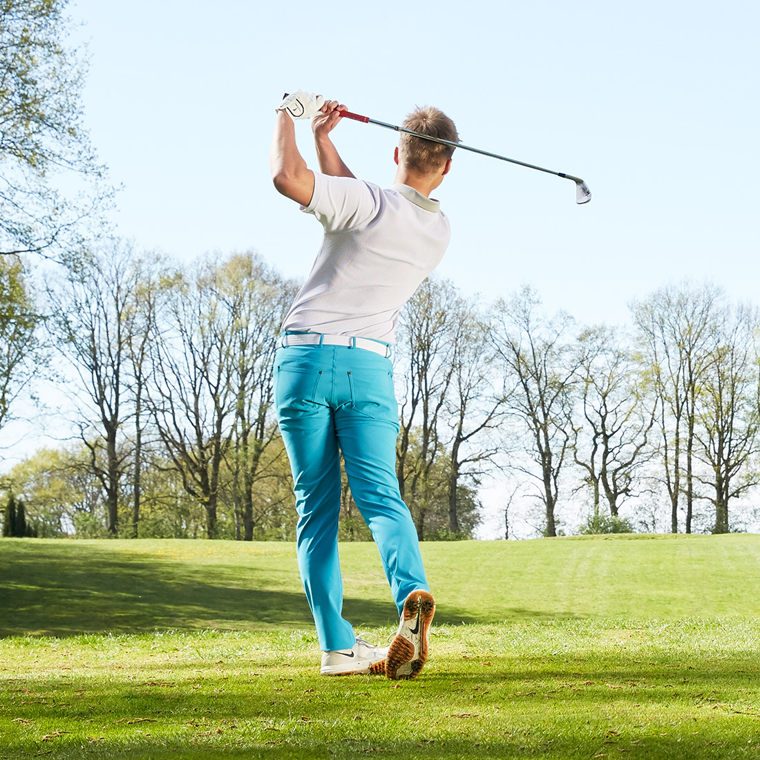 Herren Golfhose aus weichem und wasserabweisenden Techno-Material
