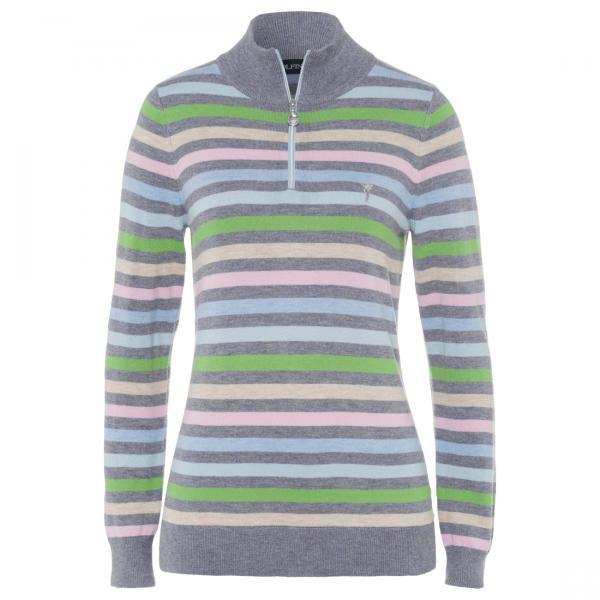 GOLFINO Gestreifter Damen Golfpullover in den Farben der Golfsaison