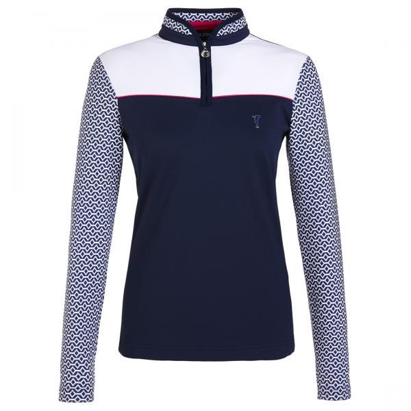GOLFINO Damen Golfunterzieher im Troyer Stil mit Sun Protection und Colour Block