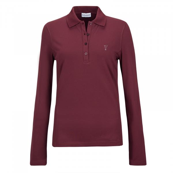 GOLFINO Wärmendes Damen Langarm Golfpolo mit Sun und Cold Protection in Slim Fit