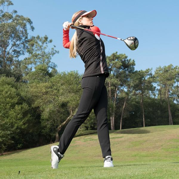 GOLFINO Modische 7/8 Slim Fit Damen Golfhose aus 4 Way Stretch mit Print