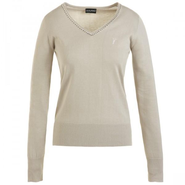 GOLFINO Super weicher V Ausschnitt Pullover aus Pima Baumwolle