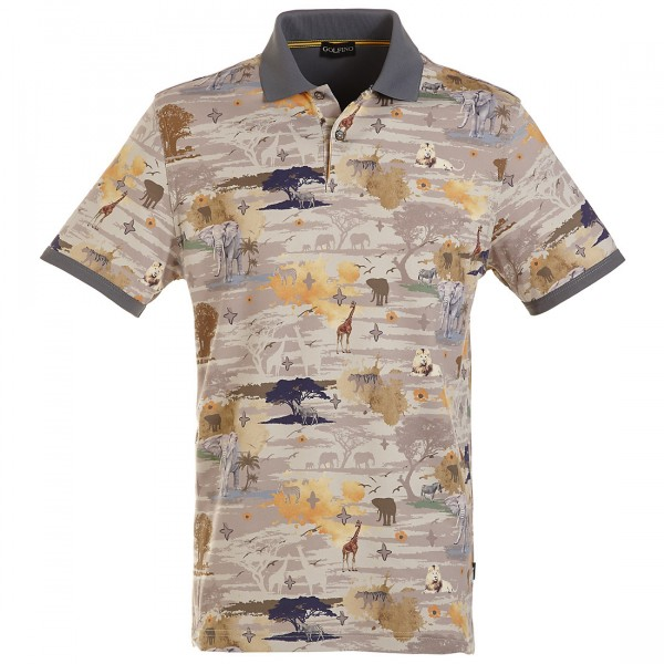 GOLFINO Bedrucktes Extra Dry Poloshirt