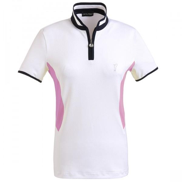 GOLFINO Damen Kurzarm Funktions Golfpolohemd aus elastischem Mesh