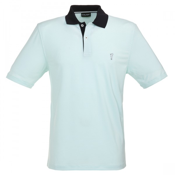 GOLFINO Gestreiftes Herren Golfpoloshirt in Regular Fit