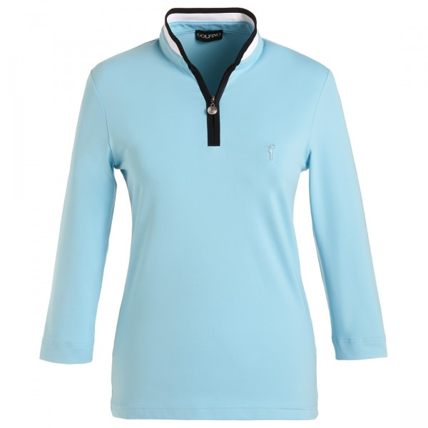 GOLFINO Damen 3/4 Arm Funktions Golfpolo Slim Fit