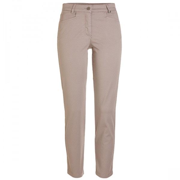 GOLFINO Slim Fit Damen Golfhose mit Allover Print und hohem Baumwollanteil