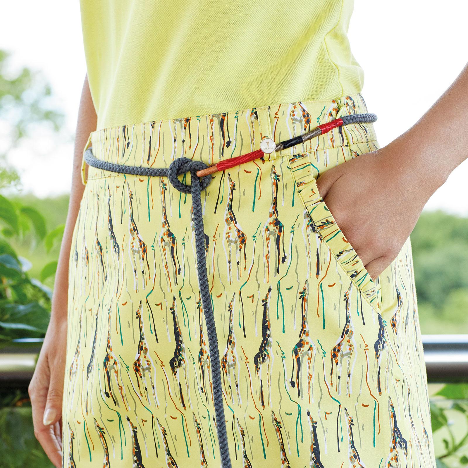 Damen Golf Skort mit Extra Stretch Komfort in Medium Länge aus Baumwoll-Mix